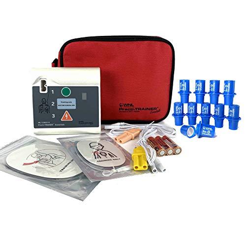 WNL Products WL120ES10-ABUNDLE AED Defribrillator Practi-Trainer Essentials Base with 10 Pack Practi-Valve Plus Reusable CPR Training Valve Combo Kit