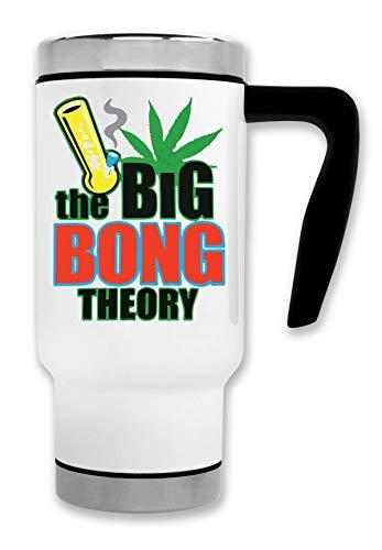 ShutUp The Bong Theory Artwork Thermische Reise-Kaffee-Tee-Tasse