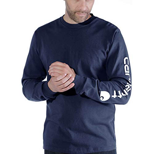 Carhartt .EK231.NVY.S008 - Camiseta con logo de manga XXL, color azul marino