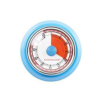 Kikkerland KT051-B Magnetic Kitchen Timer, Blue