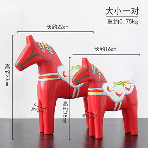 Trojan Statue 12 Zodiac Model Chinese Style Houten Ambachten Home Desk Tuindecoratie Holiday Gift Kerstdecoratie Set nieuw, rood