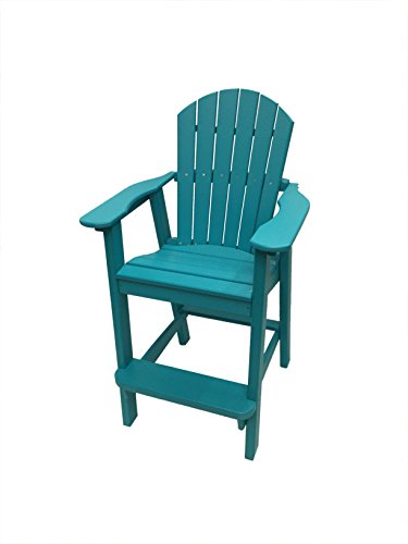 Phat Tommy Recycled Poly Resin Balcony Chair – Durable and Eco-Friendly Adirondack Armchair. This Patio Furniture is Great for Your Lawn, Garden, Swimming Pool, Deck.
