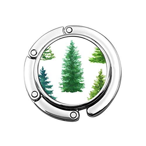 Geldbörse Kleiderbügel Geldbörse Haken Blau Immergrüne Bäume Clip Weihnachtstanne Natur Nadelbaum Ländliche Landschaft Außenpflanzen Weißer Grüner Smaragd