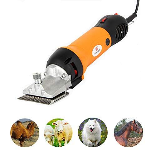 Professionele trimmer voor paarden, oplaadbare accu-scheermachine-trimmer voor paarden, krachtige huisdier-scheermachine, snelle snede, ideaal voor paarden/schapen, dichte scharen van jassen, geel
