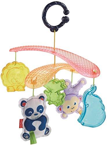 Fisher-Price Mobile Nomade avec anneau pour accrocher le jouet à la poussette, pour bébé dès la naissance, DYW54