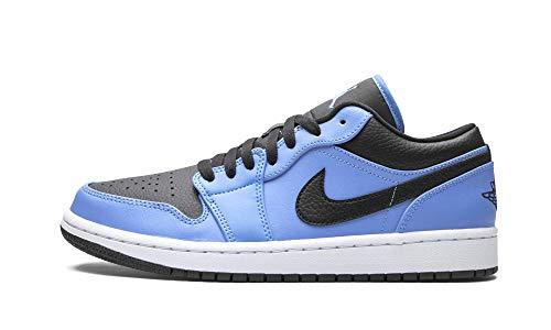 Nike Air Jordan 1 Low, Zapatillas de bsquetbol Hombre, Univ Blue Black White, 44 EU