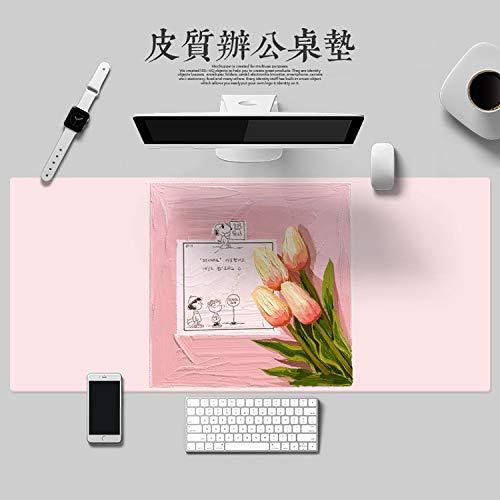 Pintura al Óleo Impresión Alfombrilla de Ratón Material de Pu Alfombrilla de Computadora Impermeable Alfombrilla de Ratón de Gran Tamaño Teclado De