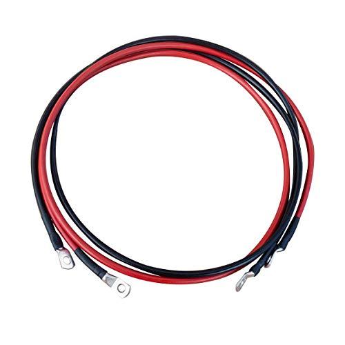 ECTIVE Kabel-Satz 1m für Wechselrichter bis 1000W 12V Wechselrichter-Kabel rot/schwarz 16 mm² M8/M8 in 4 Varianten 1-3 Meter