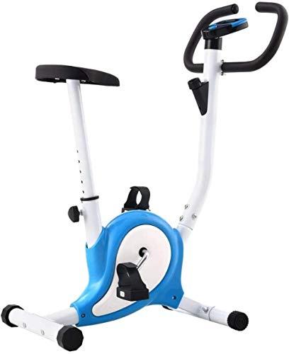 Bicicleta De Ejercicio Profesional Plegable para El Hogar con Pantalla LCD, con Sistema De Resistencia Magnética, 64X41X104 Cm Azul Y Blanco