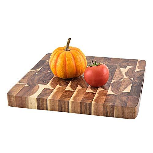 FFZH Tabla de Cortar, Tabla de Cortar de Madera/Tabla de Cortar/Tabla de Cortar de Cocina, Mini Bandeja de suplemento alimenticio ecológico 300 * 298 * 30 mm