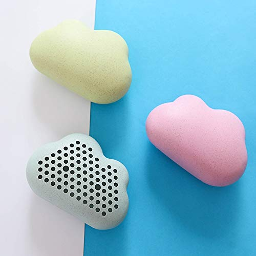 Divfaion 1PC Cloud Shape Refrigerator Activated Carbon Box Bamboo Charcoal Bag Wheat Straw Deodorant with Suction Cup In Addition To Odor