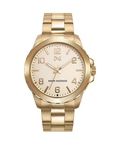 Mark Maddox HM0111-95 Reloj para Hombre de acero dorado 43 mm de caja