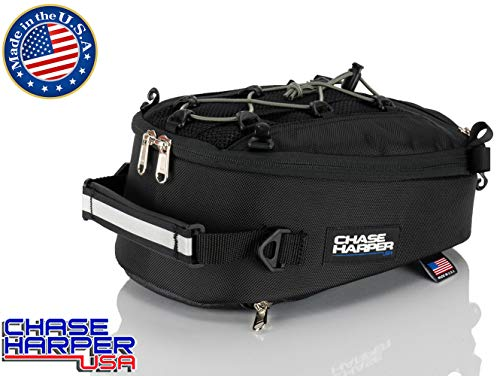 Chase Harper 450 USA Tail Bag - Water-Resistant, Tear-Resistant, Industrial Grade Ballistic Nylon - Universal Fit Adjustable Bungee Mounting System