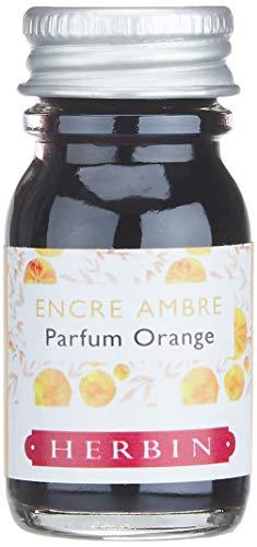 Herbin 13756ST -Una boccetta di inchiostro profumato Les subtiles per penne stilografiche e roller, 10 ml, senza imballaggio, inchiostro ambra e profumo all arancia