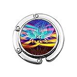 Colorido Chakra LSD Spirituality - Colgador de escritorio para monedero y monedero para niñas, diseños únicos, sección plegable para colgar bolsas de almacenamiento para mesa