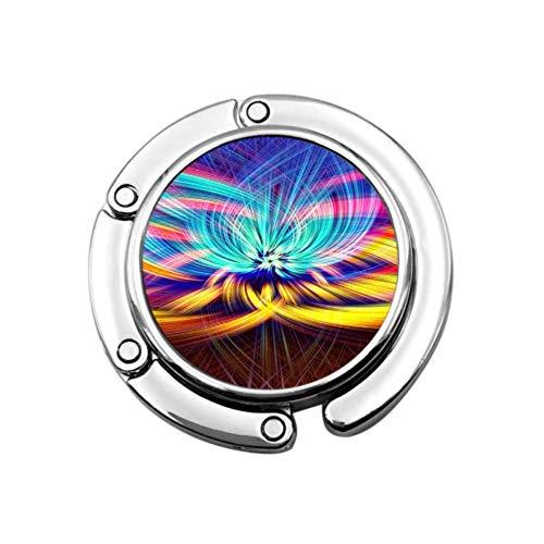 Bunte Chakra LSD Spiritualität farbige Schreibtisch Kleiderbügel für Geldbörse Geldbörse Kleiderbügel für Mädchen Einzigartige Designs Faltbereich Aufbewahrungsbeutel Kleiderbügel für Tisch