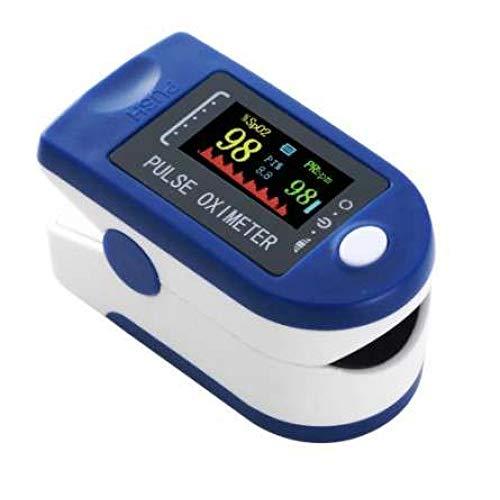 Oxímetro de Pulso, oxímetro de dedo profesional con pantalla LED para medición de SpO2 y PI y PR, Pulsioxímetro, (incluye cordón)