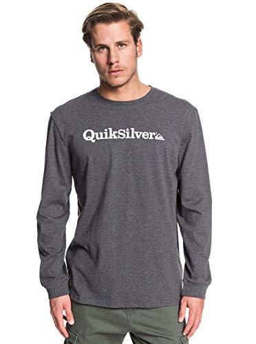 Quiksilver Herren Longsleeve T-Shirt Fraction of Mind - Longsleeve Für Männer, Charcoal Heather, XS, EQYZT05601