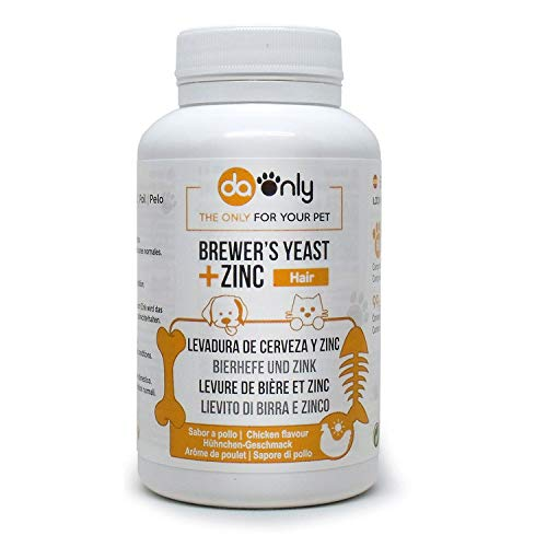 DAONLY Levadura de Cerveza para Perros y Gatos en Comprimidos. Suplemento Nutricional con Vitamina para el Pelo, Piel y Uñas de tu Mascota