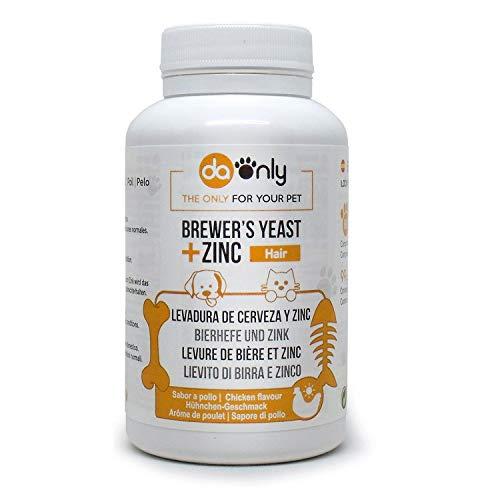 DAONLY Levadura de Cerveza + Zinc + Vitamina E para Perros y Gatos. Suplemento Nutricional para el Pelo, Piel y Uas de tu Mascota