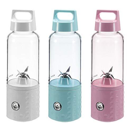 ZJF Suministros Esenciales Familiares Portátil VITAMENT Smoothie Blender Recargable Juicer eléctrico para el Viaje en casa (Color : Pink)