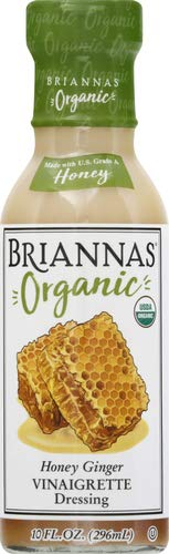 BRIANNAS Organic Honey Ginger Vinaigrette Dressing, 10 FZ