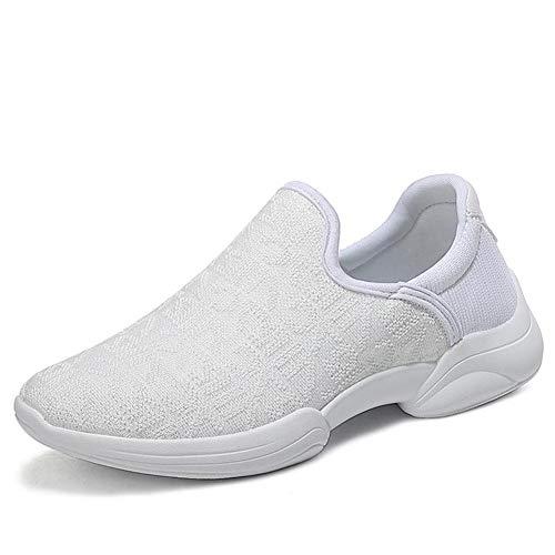 [Anleesi] ウォーキングシューズ リハビリ シューズ 介護靴 レディース 高齢者シューズ 安全靴 通気性 柔軟性 メッシュ 中高齢者靴 老人 靴 おしゃれ 白い ホワイト 25.0cm