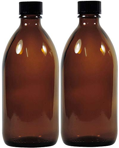 Viva Haushaltswaren frascos de Farmacia, Medicinal de/braunglasflasche inkulsive un Etiqueta identificadora, Vidrio, marrón, 2 x 250ml