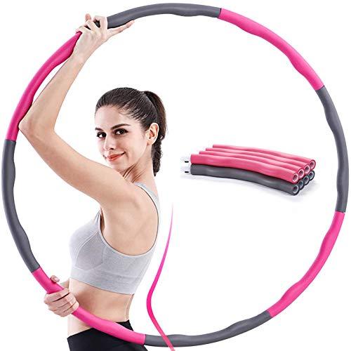 Hula Hoop Reifen, Fitness Reifen Zur Gewichtsreduktion und Massage, 8 Segmente Abnehmbarer Hoola Hoop Reifen Geeignet Für Fitness/Sport/Zuhause/Büro/Bauchformung