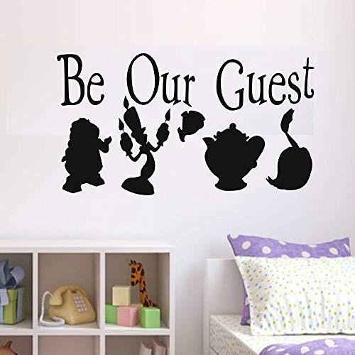 Pegatinas de Pared Adhesivos Pared Be Our Guest Kids Bedroom Art Decor Divertido Vinilo Nursery Interior Home Decoration For Living 114x62cm