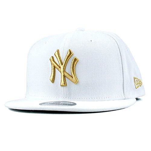 NEWERA 9FIFTY スナップバックキャップ MLB ニューヨークヤンキース ホワイト/ゴールド