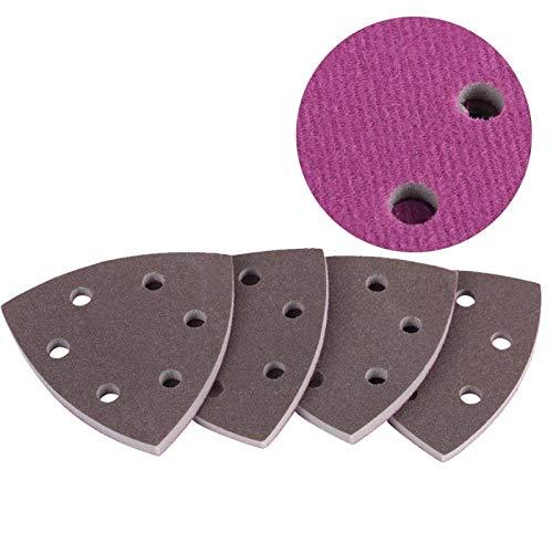 Papel de lija, discos de lijado, superficie de pintura de 4 piezas para pulidoras eléctricas, carcasa de teléfono pulido, neumática(300-400#)