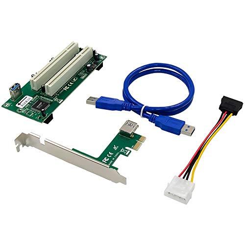 Casinlog Tarjeta de Adaptador PCI Express una PCI Dual PCIe X1 una Router Tow 2 Tarjeta de Ranura de Ranura PCI PCI Ventana de Soporte 2.5Gbps Linux