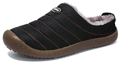 SMajong Uomo Donna Invernali Pantofole da Casa Antiscivolo Pantofole All'aperto Inverno Caldo Peluche Interno Ciabatte Scarpe di Cotone da Casa Taglia Larga 35-48 EU