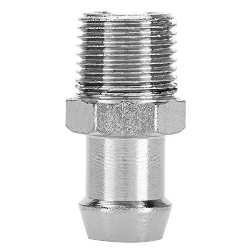 Auto-schroefdraadverbinding, 1/2 '' NPT 5/8 '' slangtuit chroom metalen armatuur aanzuigspruitstuk waterpomp verwarmingsslang