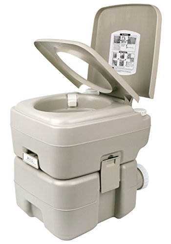 Leopard Outdoor T-Type Three Directional Flush Portable Travel Toilet for Camping,Boating,Hiking,Portable RV...
