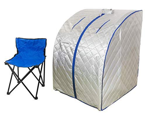 Infrarrojo Sauna Plegable Cabina de calor Infrarrojo lejano 650 hasta 1000...