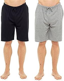 Tom Franks Mens Boys Gents Plain 2 Pack Lounge Shorts Pyjama Shortie Bottoms Red Black Blue Grey M-XXL