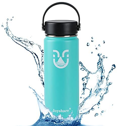 Botella de agua de acero inoxidable, botella de 500 ml a prueba de fugas, botella reutilizable con aislamiento deportivo, mantiene el frío 24 horas caliente 12 h, hogar, al aire libre