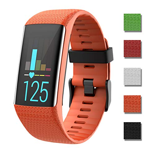 Zeehar Replacement Watch Band Soft Silicone Strap Sport Wristband Compatible with Polar A360 and A370 Fitness Tracker