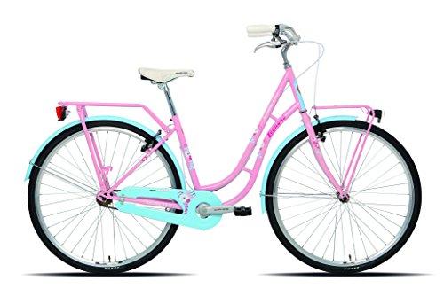 Legnano Ciclo 251 Fenicottero, City Bike Donna, Rosa/Azzurro, 44