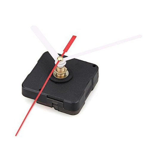 TOOGOO(R) Uhrwerk-Mechanismus mit Weiss Stunde Minute Rot Sekunde Hand DIY Tools Kit