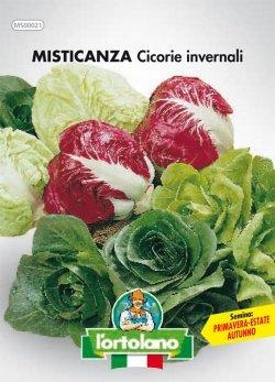 Sementi orticole di qualità l'ortolano in busta termosaldata (160 varietà) (MISTICANZA CICORIE INVERNALI)