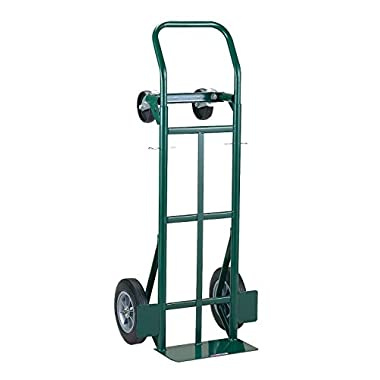 Harper Trucks 700 lb Capacity Super-Steel Convertible Hand Truck, Dual Purpose 2 Wheel Dolly and 4 Wheel Cart with 10  Flat-Free Solid Rubber Wheels