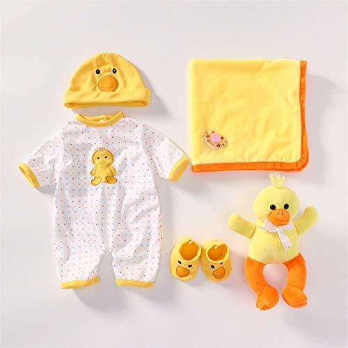Binxing Toys Reborn Baby Doll Ropa Adecuado para muñecas recién Nacidas de 18-22 Pulgadas Accesorios para Bricolaje Solo Ropa de tamaño Real (Pato Amarillo)