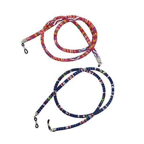 Sharplace 2x Cintura Di Cotone Corda Di Occhiali Da Sole Design Etnico Per Evitare Che Bicchieri Cadano 70cm