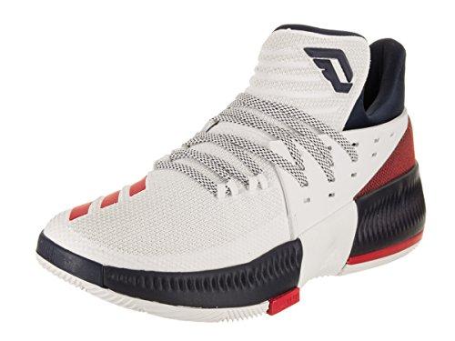 adidas Dame 3 - Men's Basketball 12 White/Scarlet/Collegiate Navy