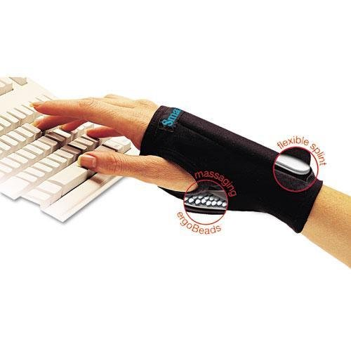 Imak A20126 SmartGlove Wrist Wrap, Medium, Black