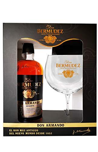 """Bermudez RON BERMUDEZ RSVA.""""DON ARMANDO"""" + Estuche COPA BALÓN 70CL 37.5% - 700 ml"""
