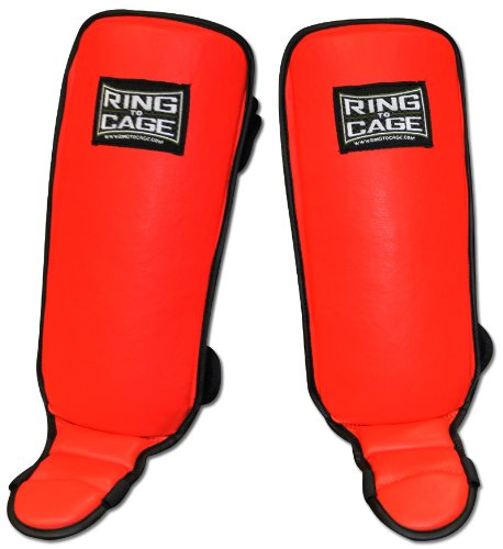 Ring to Cage Kids Grappling Shin in-Step Guard for MMA, Muay Thai, Kickboxing (Medium)